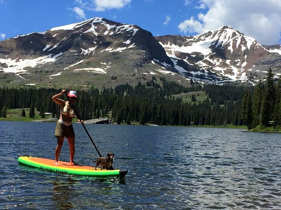 Rose and Roger, enjoying a paddle at Lake Irwin.
