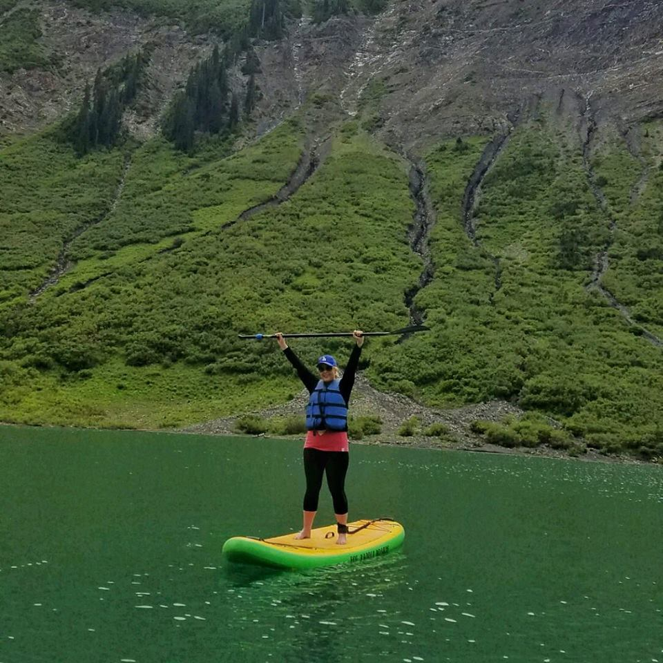Learning to SUP on Emerald Lake