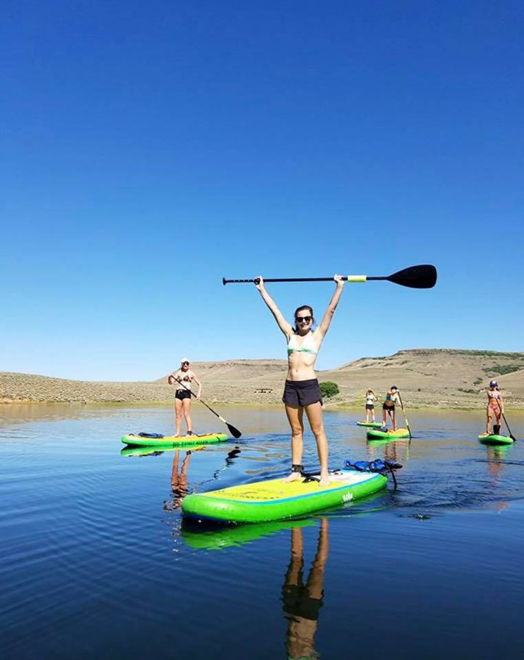Morning paddle on the Blue Mesa from Dry Creek