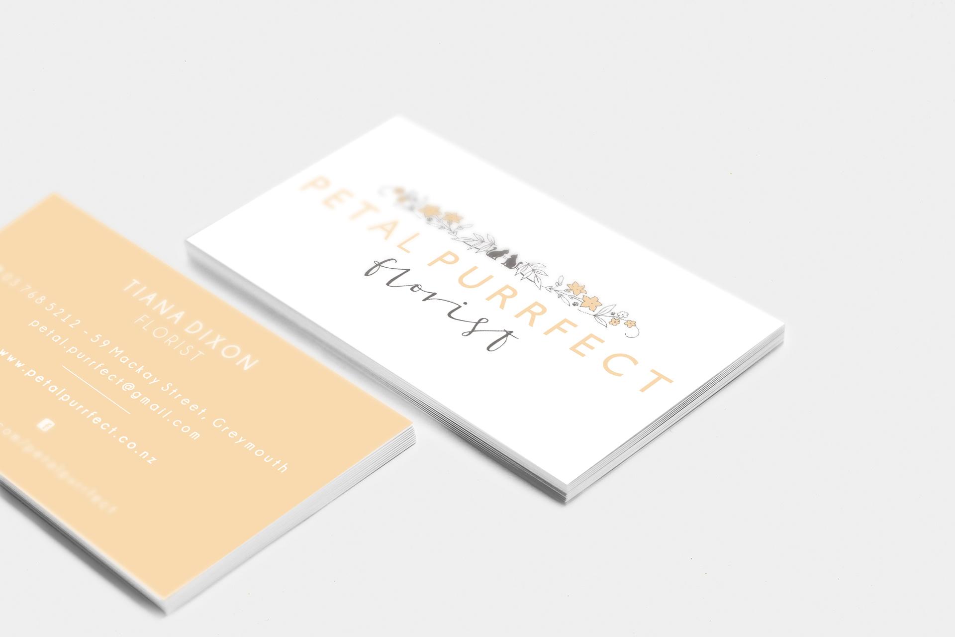 Petal Purrfect Business Card Design