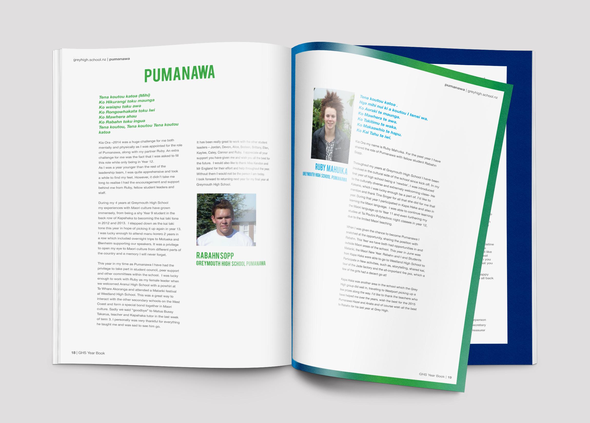 Greymouth High School Year Book 2014 Design