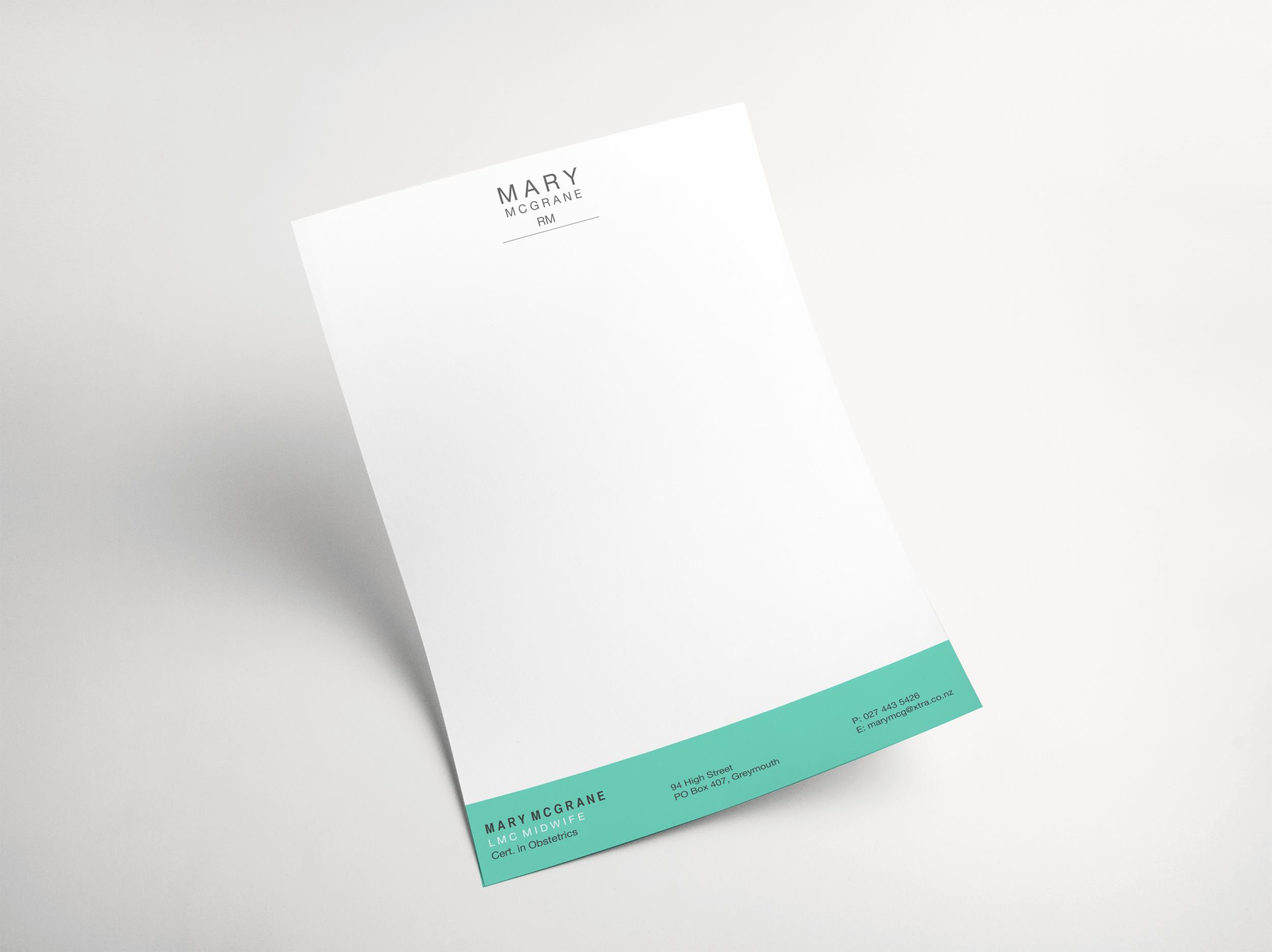 Mary McGrane Letterhead Design