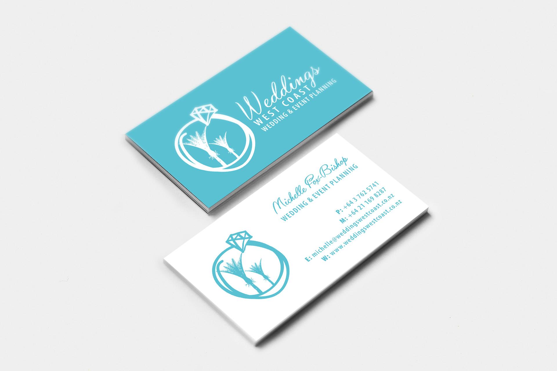 Weddings West Coast Business Card Design