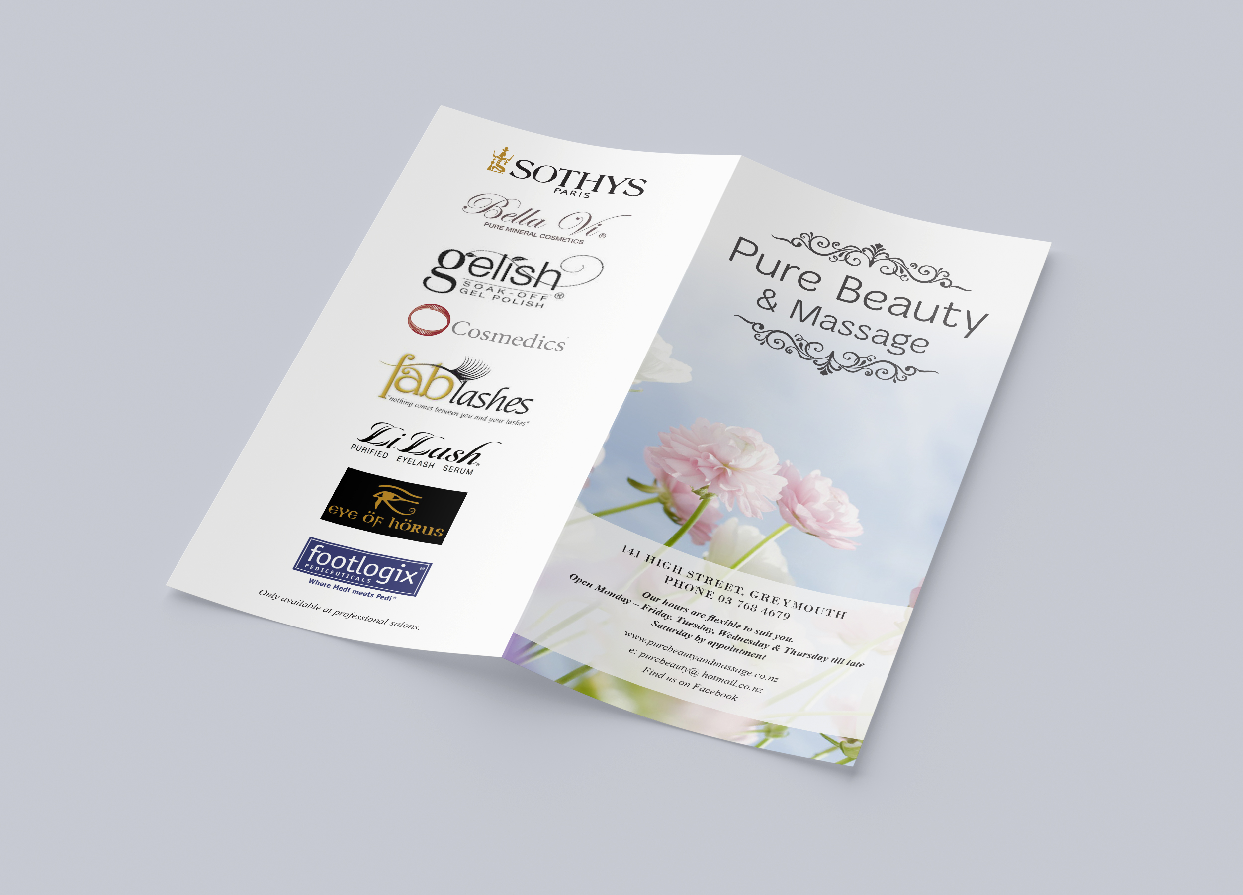 Pure Beauty & Massage Brochure Design