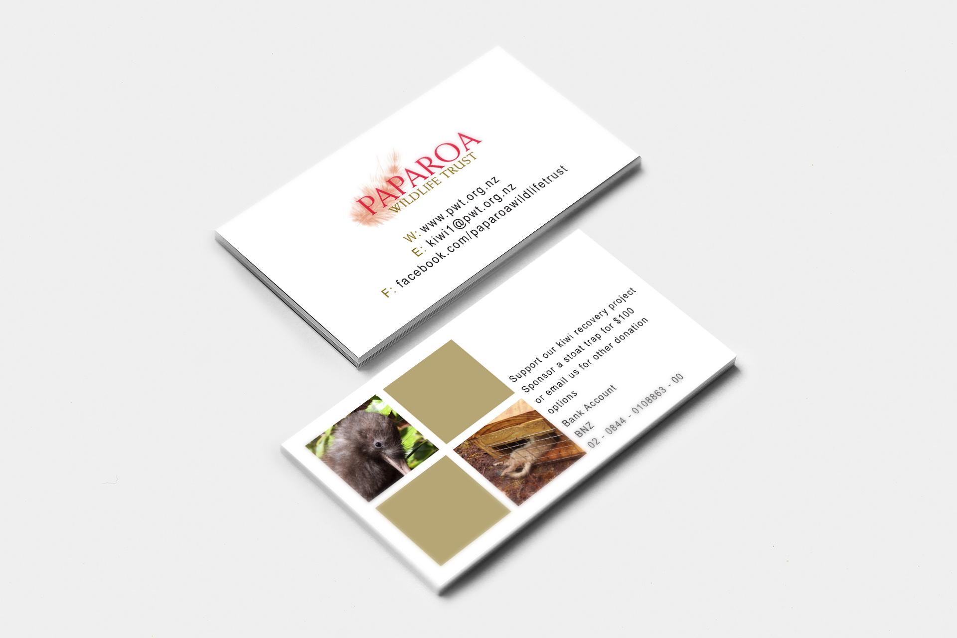 Paparoa Wildlife Trust Information Card Design