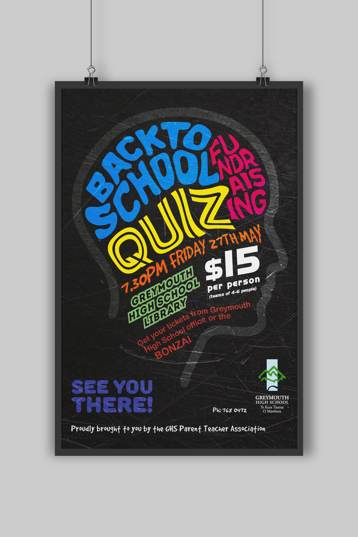 Greymouth High School Poster Design