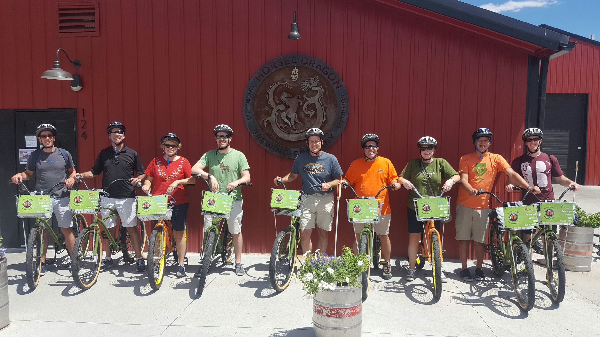 Fun Group visiting Horse & Dragon Brewing