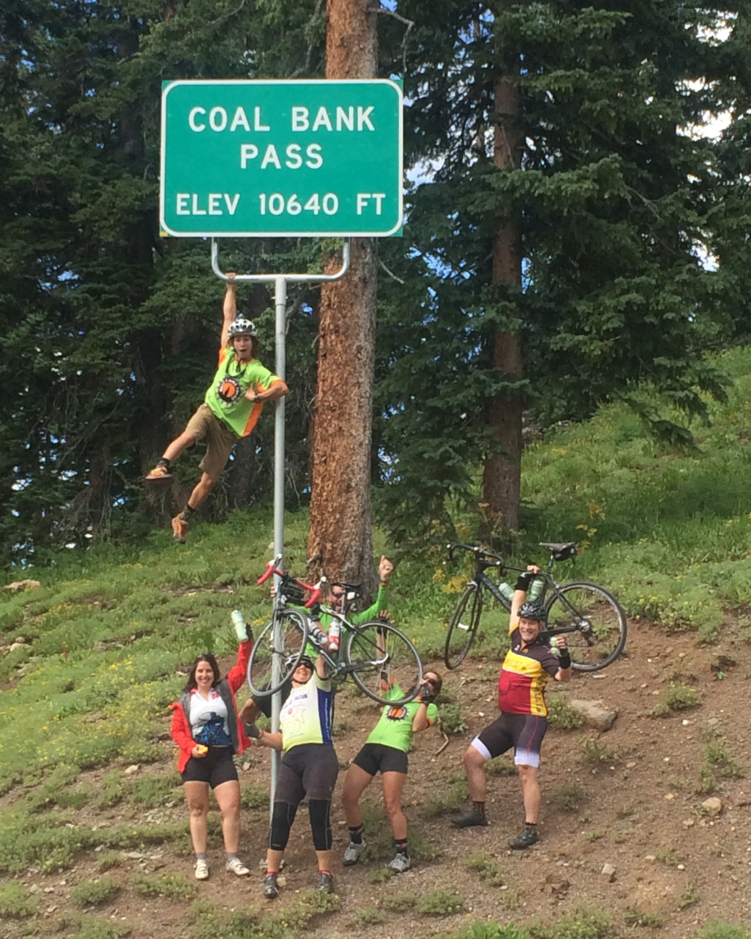 The last climb of the trip and it is time to celebrate before a grand descent to Durango