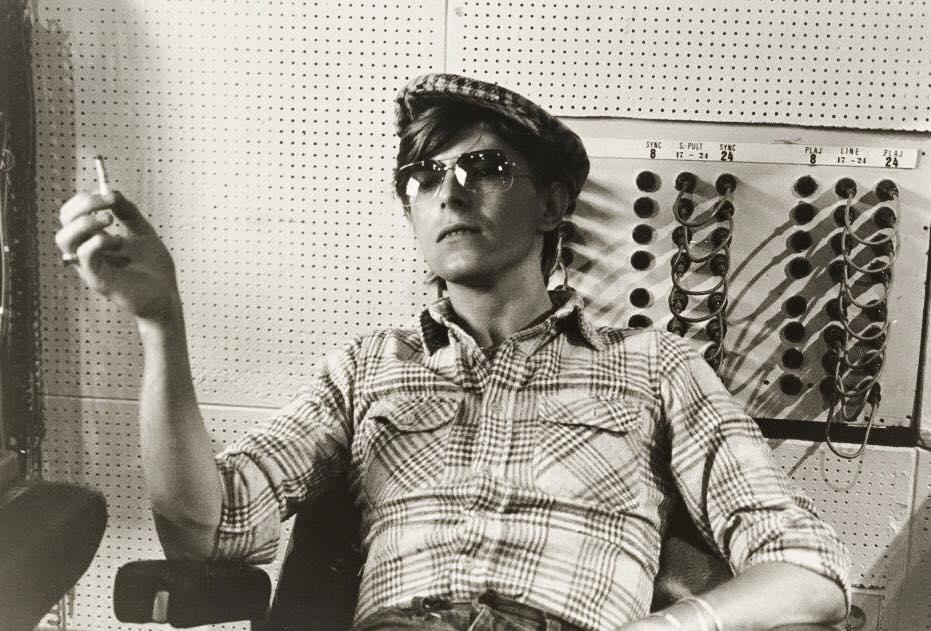 Bowie in the control room at Hansa Studios, Berlin.