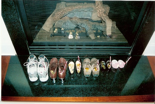 French people put their shoes by the fireplace in the hopes that  Le Père Noël  will fill them with goodies.