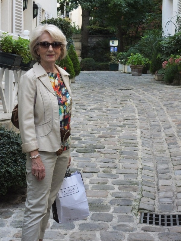 In the courtyard of our hotel in the heart of the Latin Quarter in Paris.