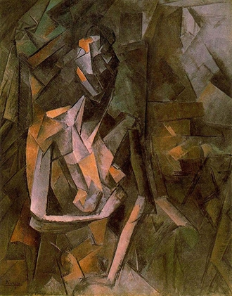 seated female nude paris early 1910 purchased by haviland directly from Picasso