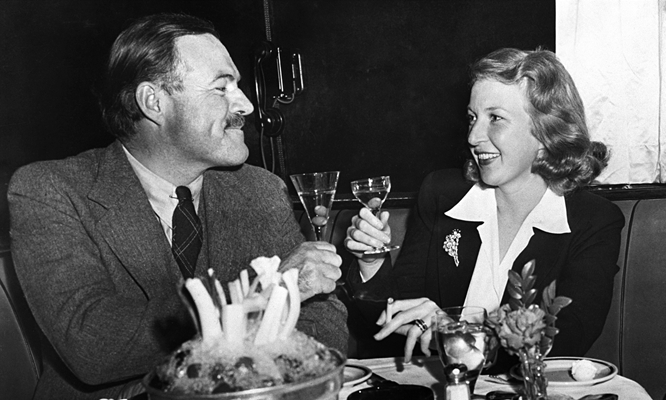 Hemingway and journalist Martha Gellhorn, who would supplant Pauline Pfeiffer in Hemingway's affections.