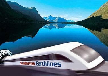 Scandinavian Earthlines connecting Sweden and Norway