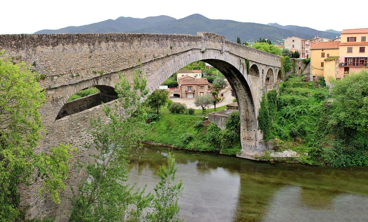 """Pont du Diable (""""The Devil's Bridge""""),Céret."""