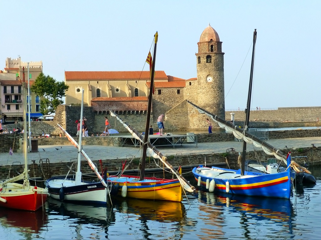 Fishing boats in the port of Collioure, near Céret.