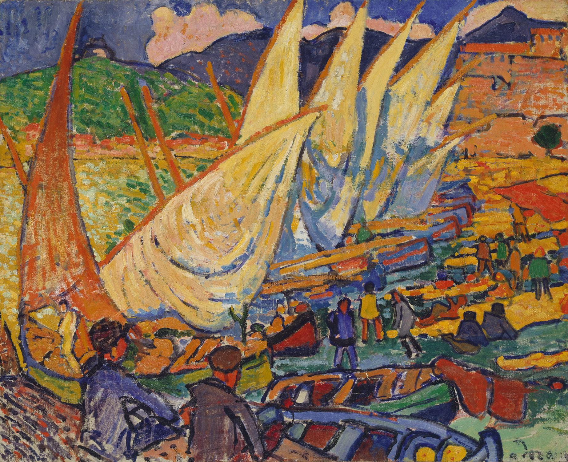 Fishing boats, Collioure, Derain.