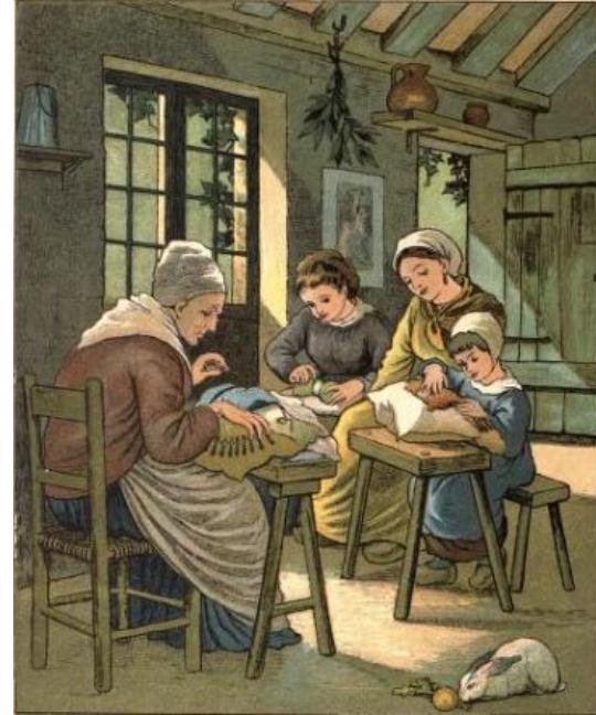 Traditional lace makers.