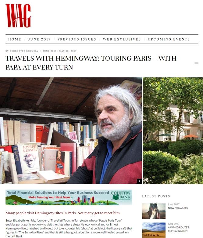 WAG magazine features Travellati Tours   Papa's Paris Tour.  Photos: Elizabeth Kembe.