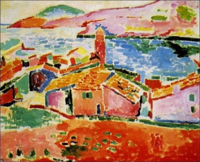 Les toits de Collioure  (The roofs of Collioure),Henri Matisse.