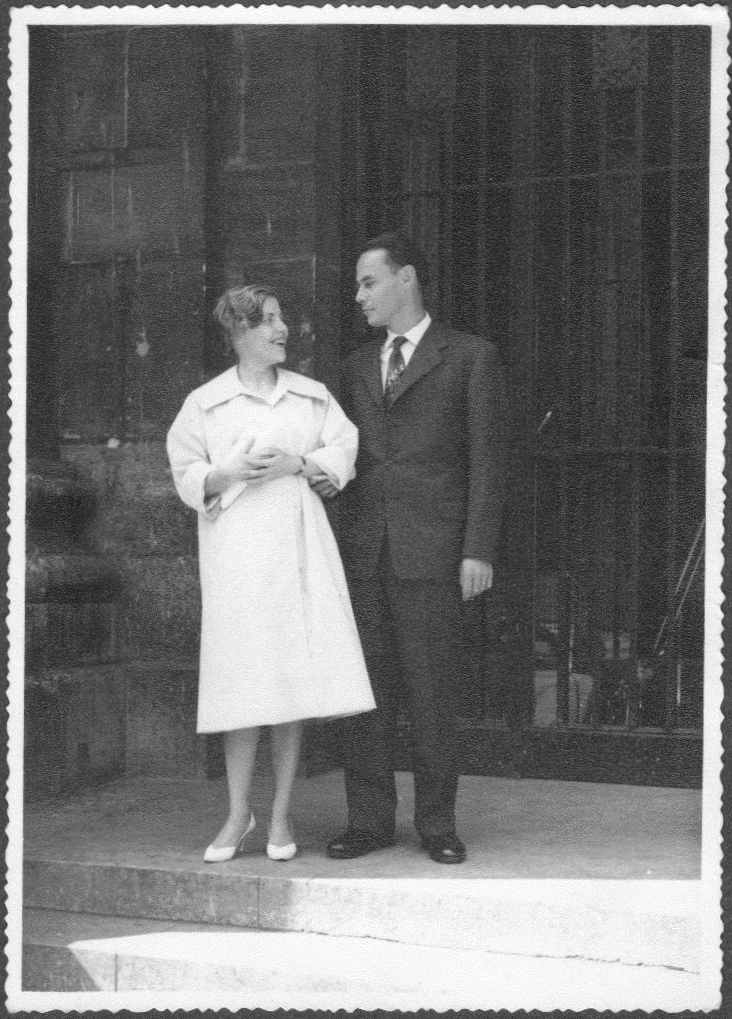 Mom and Dad on their wedding day.