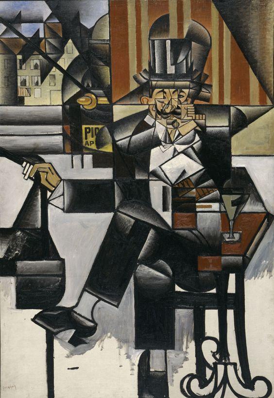 """Man in a Café,"" 1912, by Juan Gris.jpg"