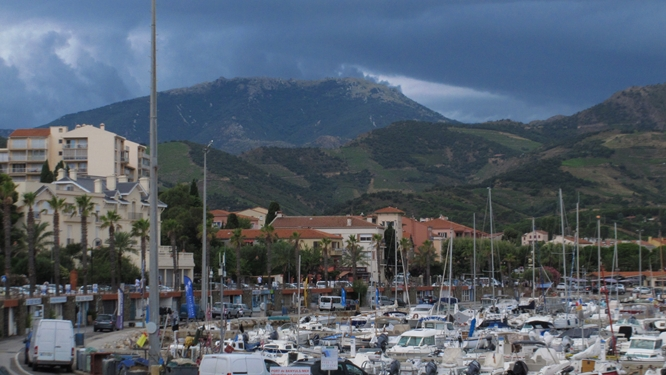 The Mediterranean port of Banyuls, hometown of Maillol. Photo: Elizabeth Kemble for Travellati Tours.