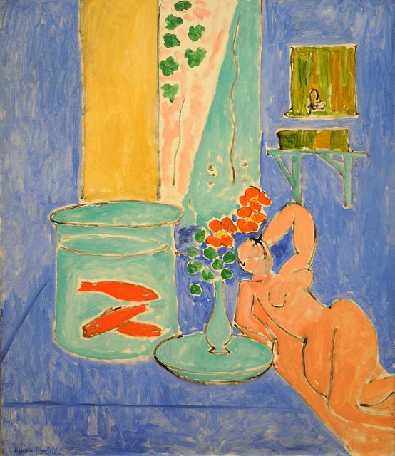 Goldfish and Sculpture,  Henri Matisse, 1912, MoMA.