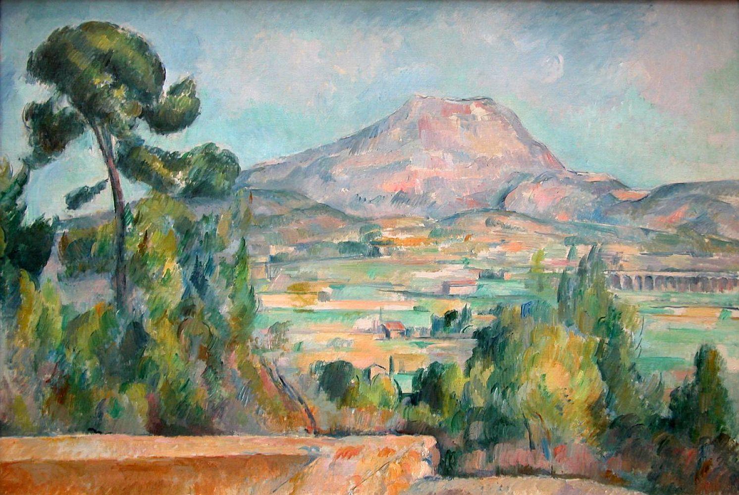 Mount Saint Victoire, Paul Cézanne 1890, Musée d'Orsay.