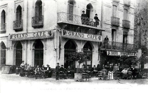 The  Grand Café  in Céret, the social center of Picasso's time there.