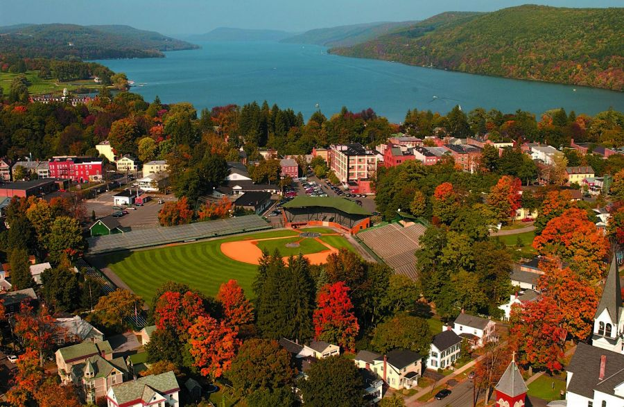 Cooperstown, NY, on Lake Otsego, in all its Fall glory.