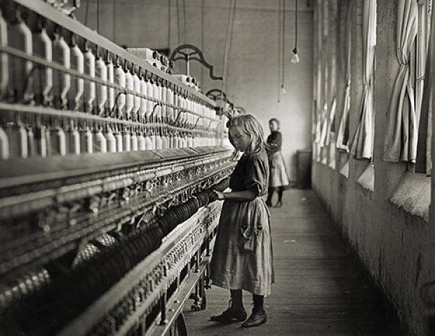 Sadie, a cotton mill spinner, Lancaster, South Carolina,1908. Lewis Hine.