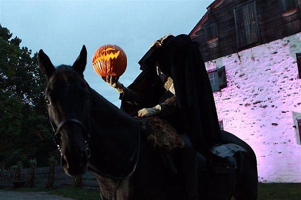 The Headless Horseman at  Horseman's Hollow.  Photo Jennifer Mitchell.