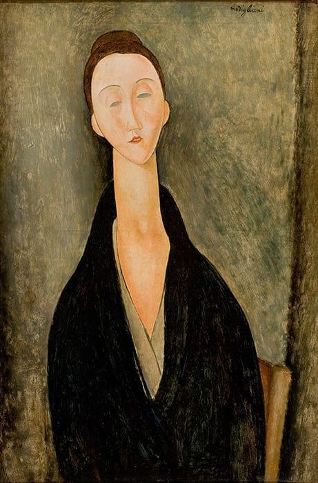 Lunia Czechowska,  Amedeo Modigliani,1919. Museu de Arte de São Paulo. Photograph João Musa.