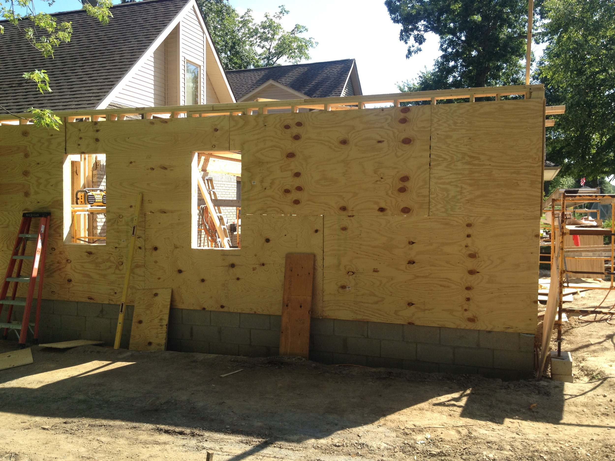 Early stages of a home addition