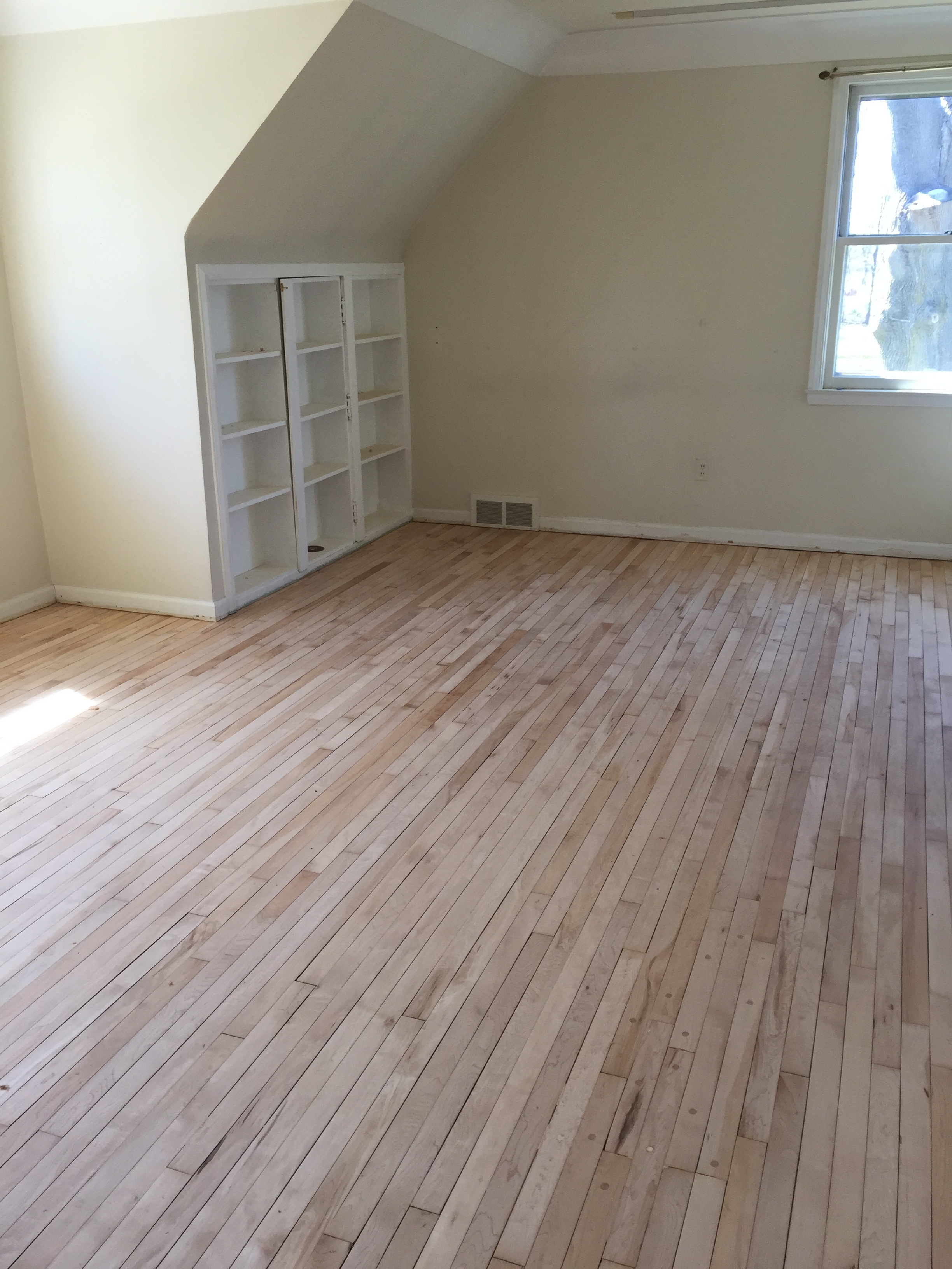 In the process of refinishing 100+ year old wood floors in a carriage house