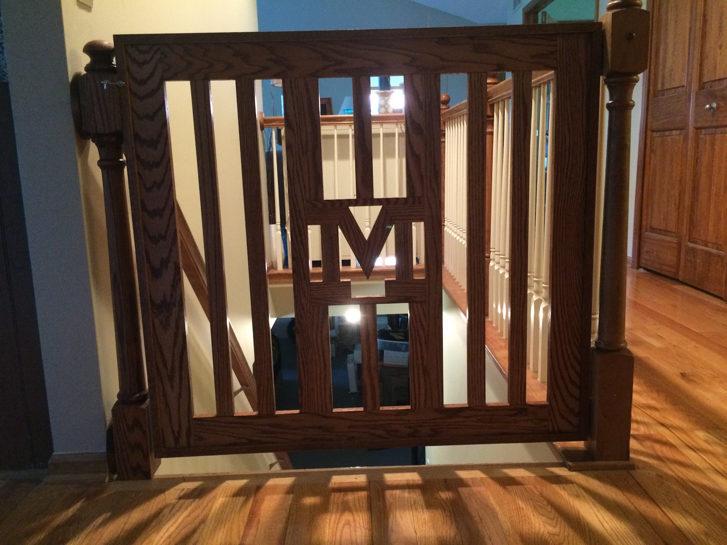 Custom-made University of Michigan gate