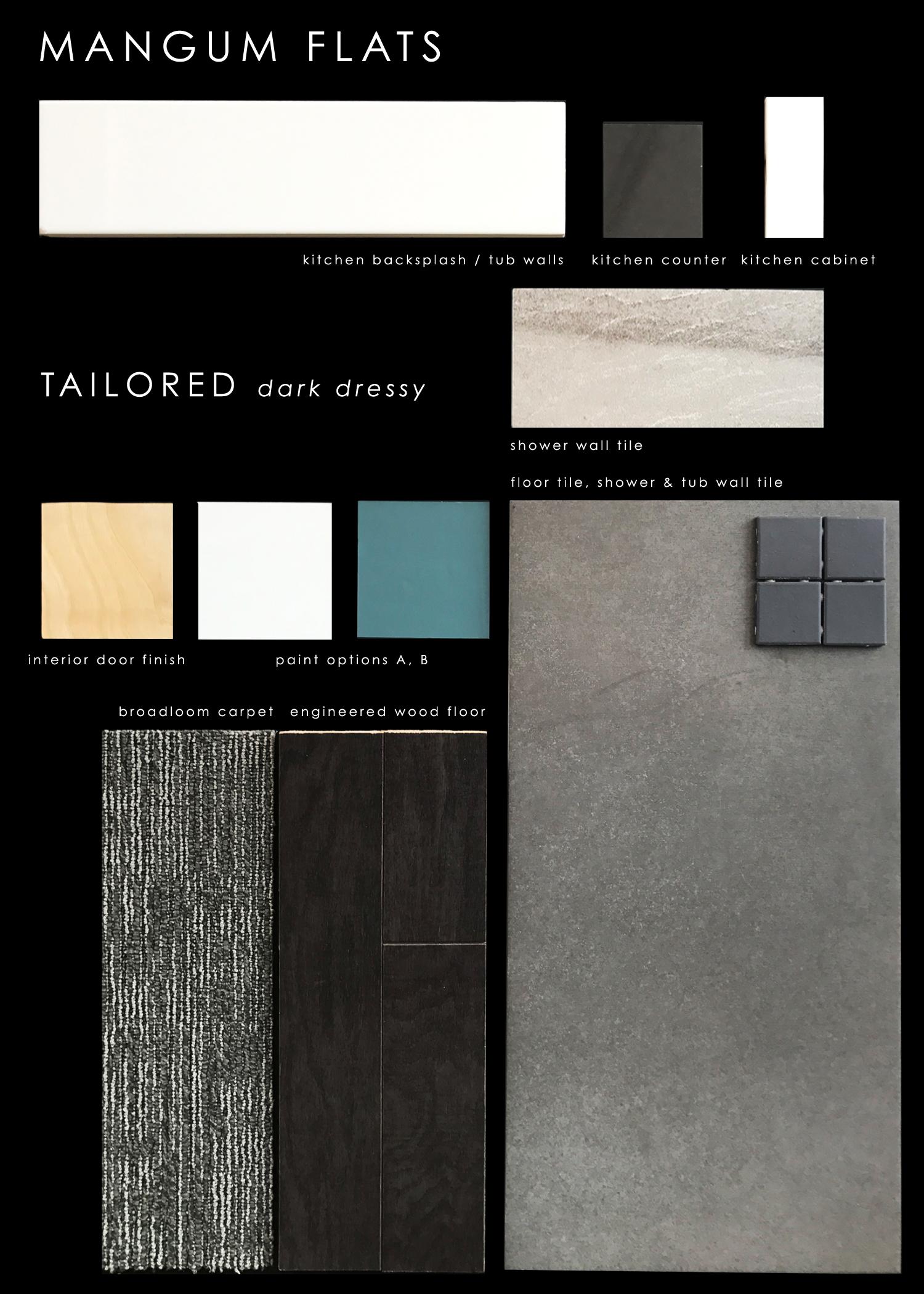 Finish Package:Tailored dark dressy
