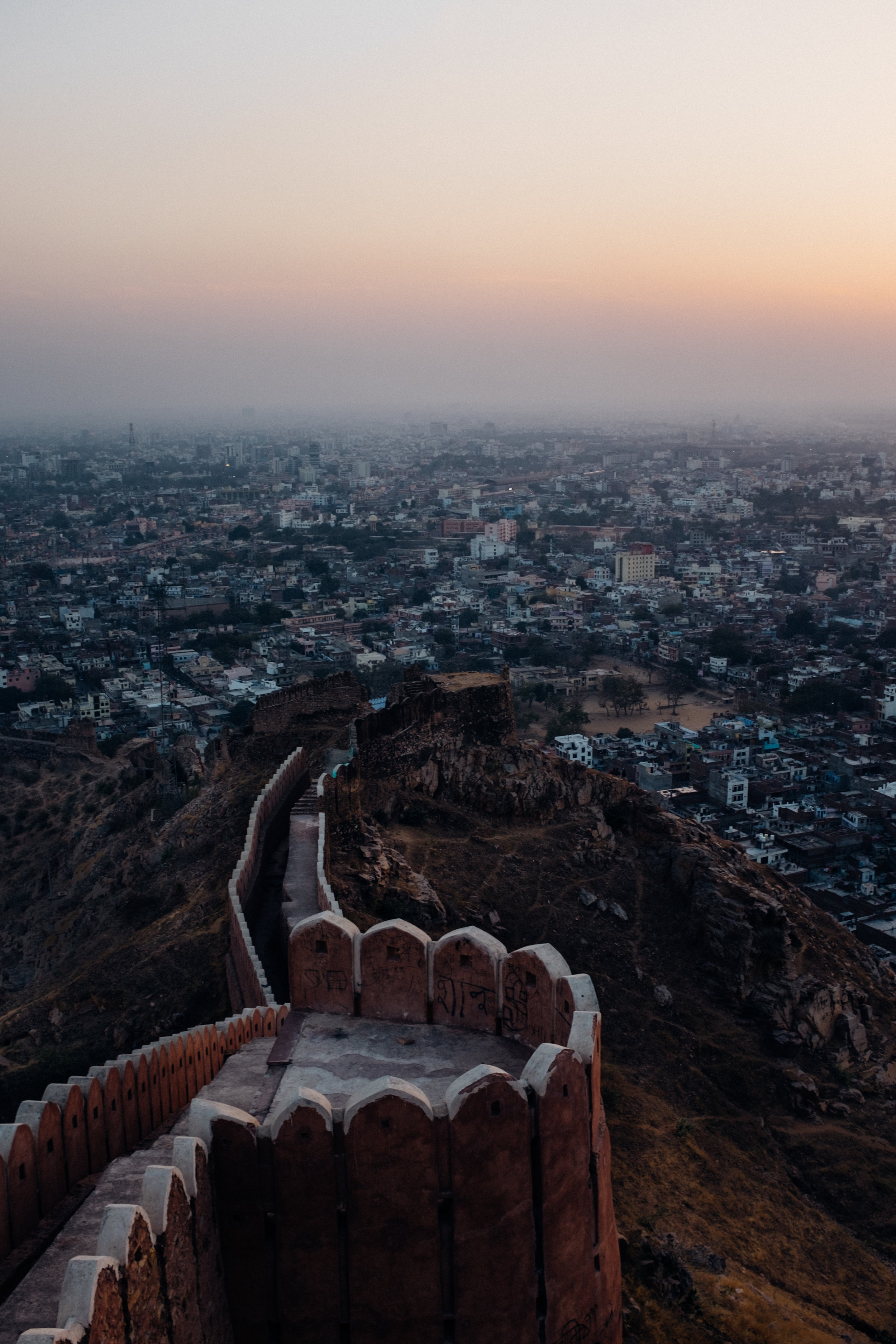 Nahargarh Fort overlooking the city