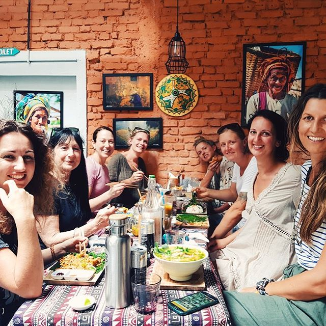 Happy Nourish + Flourish tribe. 🌟🌟🌟 For anyone that has ever hovered over joining us in Vietnam, just do it! ✈️Colour. French vibe. Amazing tasty and zingy food. Divine accommodation. We have it all. Next stop Hoi An. ✔️ #mindfultribes #vietnamretreats #yogaeverydamnday