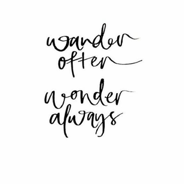 Touché to this. Ironically I spent a whole flight yesterday thinking, wondering, creating my next ideas. It was like an outpouring of reflection through the quiet after such a full week. Wander often. Wonder always. 🍃🙏🏻 #Mindfulness #meditate #reflect #travel