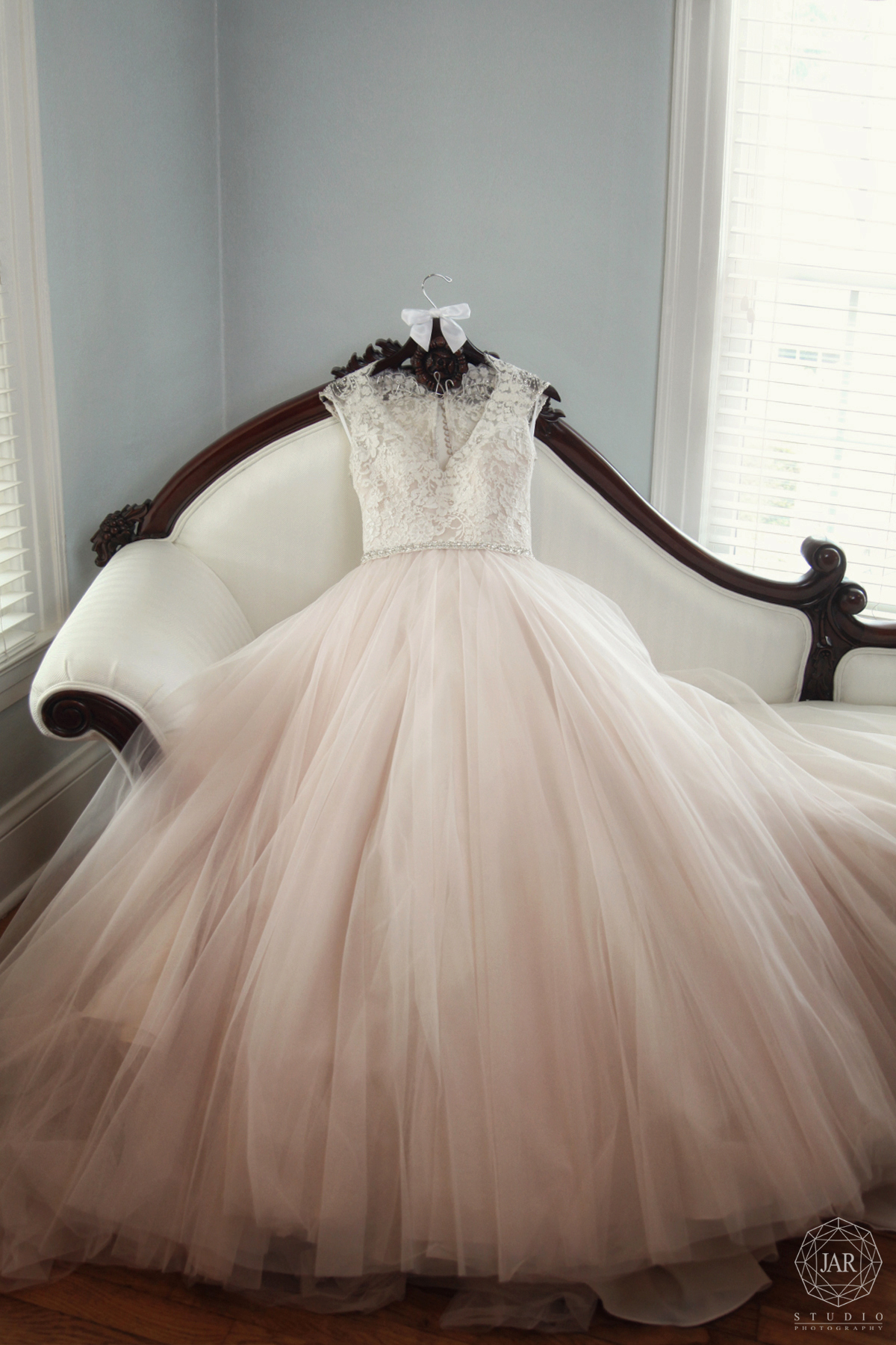 Modern gorgeous blush wedding dress Orlando photography