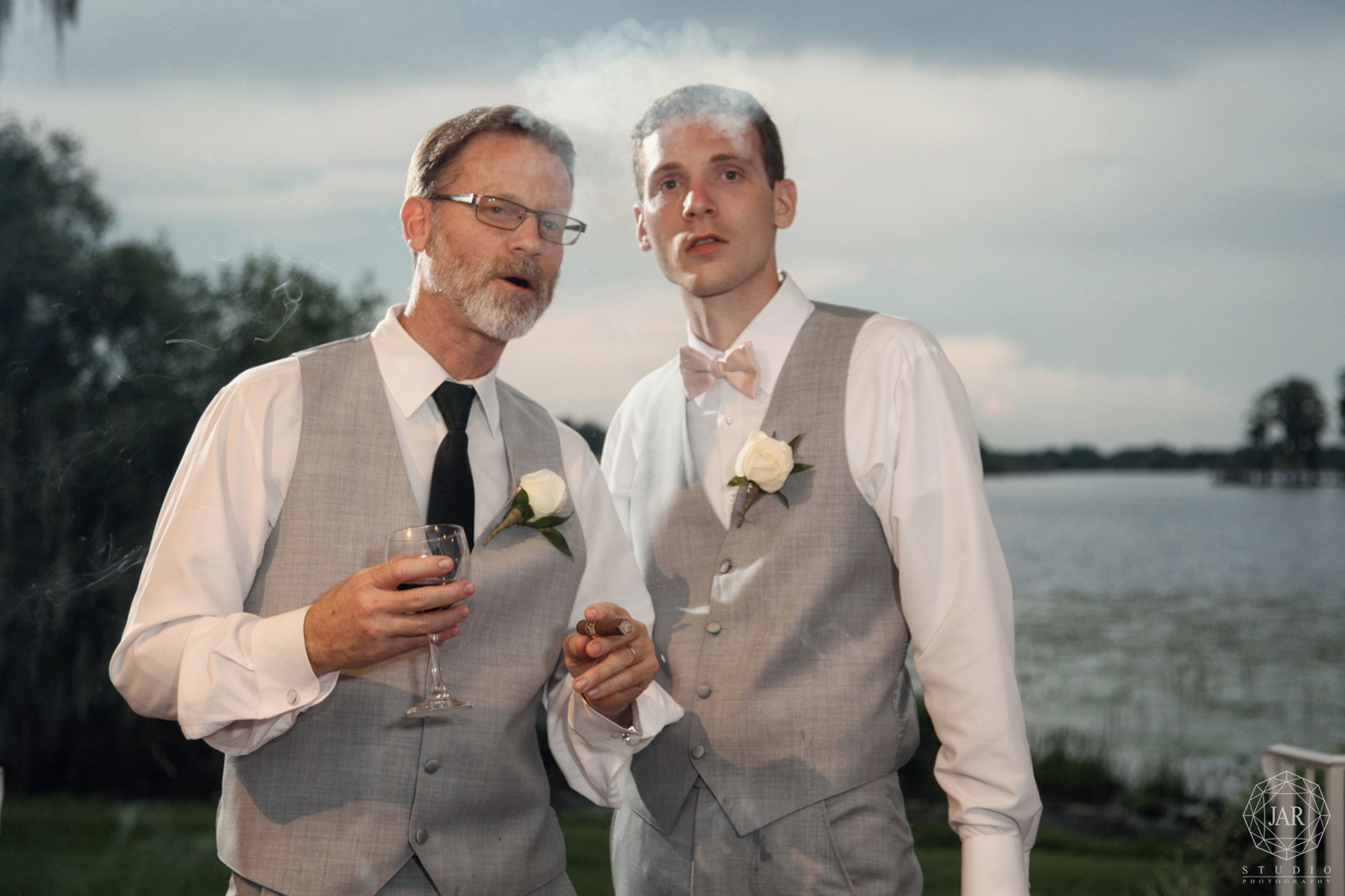 Cool groom with his father orlando wedding photography