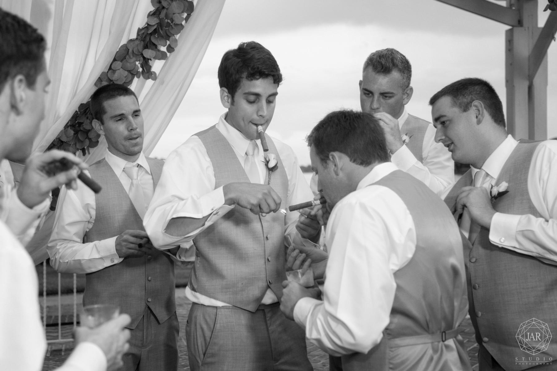 33-groomsmen-cigar-fun-gray-tux-aquamarine-ties-orlando-photographer.JPG