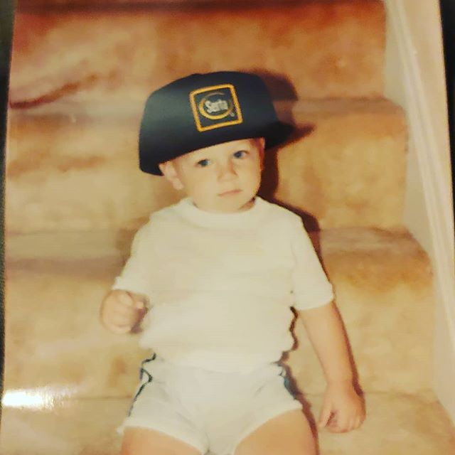 #tbt My dad had me in the Mattress Game early! This was probably 1989 or 90 @serta #mattress #baby #sleep #throwbackthursday #80s #hatlife #bighat #woah #cfscolumbus #cfs