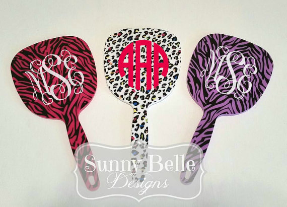 Monogrammed Handheld Mirror  from  Sunny Belle Designs '  Etsy Shop
