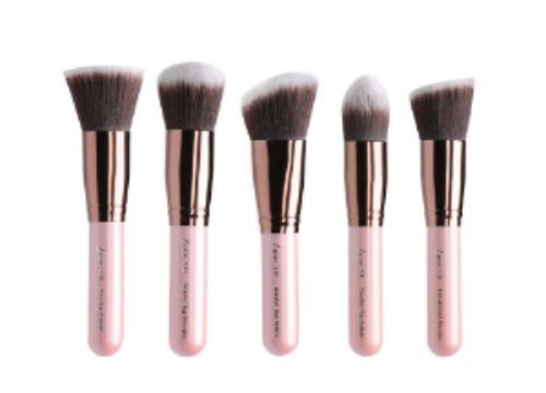 Luxie Beauty 's  Rose Gold Synthetic 5 Piece Kabuki Brush Set  ($50)