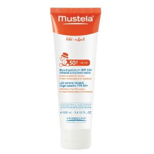 Mustela 's  SPF 50+ Broad Spectrum Mineral Sunscreen Lotion  ($16)