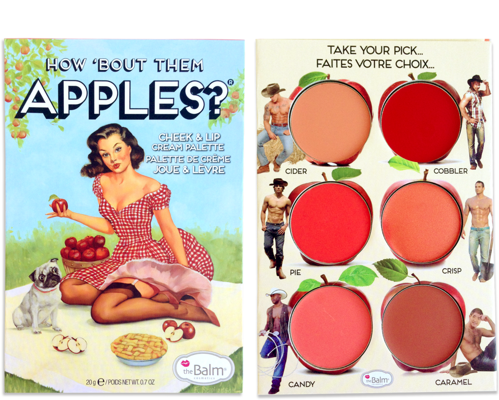 theBalm 's  How 'Bout Them Apples?® Lip and Cheek Cream Palette In Cobbler  ($32)