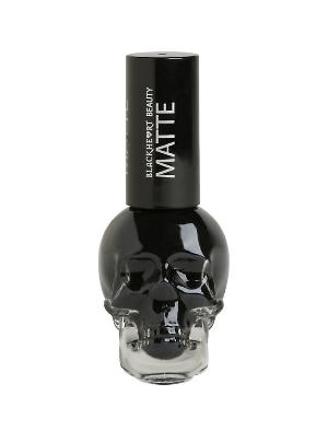 Hot Topic 's  Blackheart Beauty Black Matte Nail Polish   ($4)